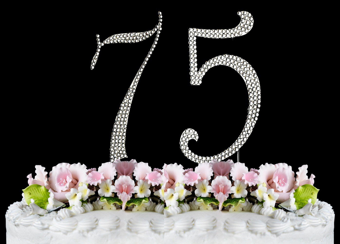 75th Birthday Cake Clipart.