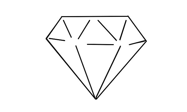 Blue Cartoon Diamonds.
