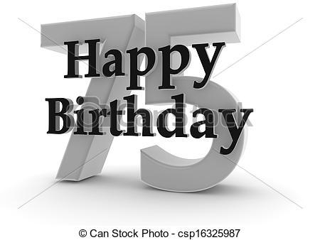 Happy Birthday for 75th birthday.