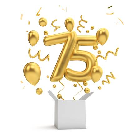 75th Birthday Stock Illustrations, Cliparts And Royalty Free 75th.