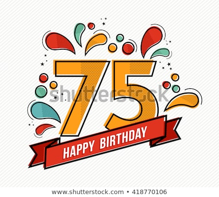 75th Birthday Free Vector Art.