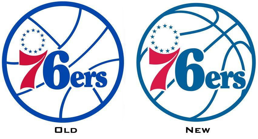 New 76ers logo.