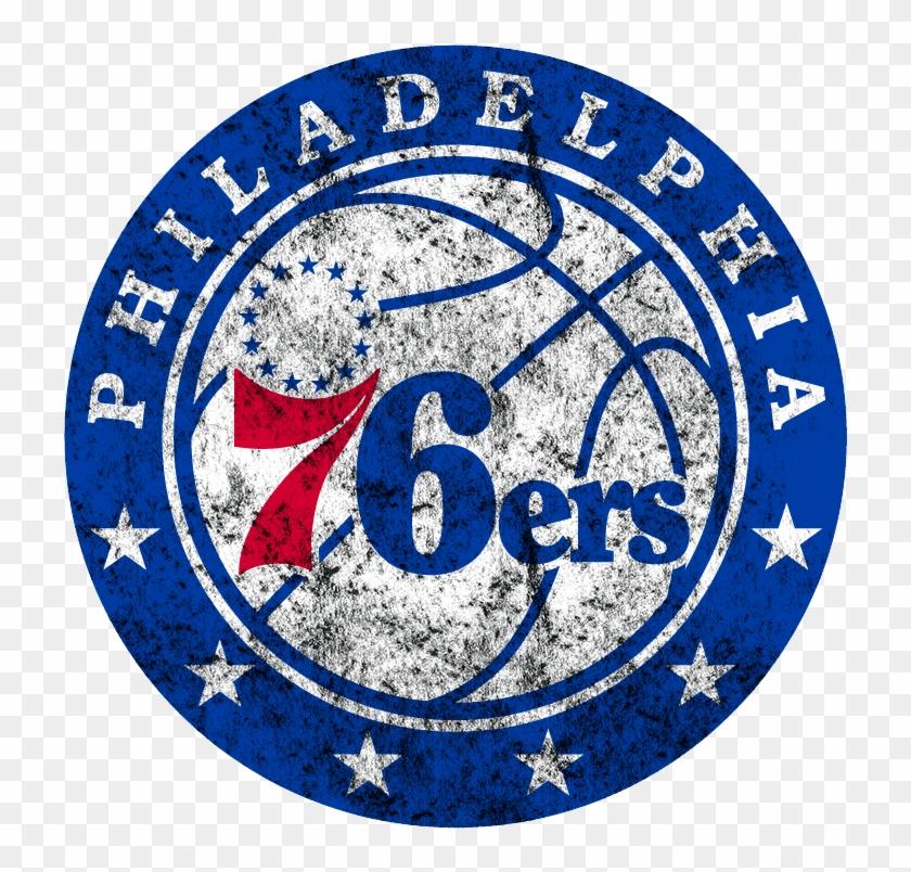 Fathead Philadelphia 76ers Logo Wall Graphic , Png, Transparent Png.
