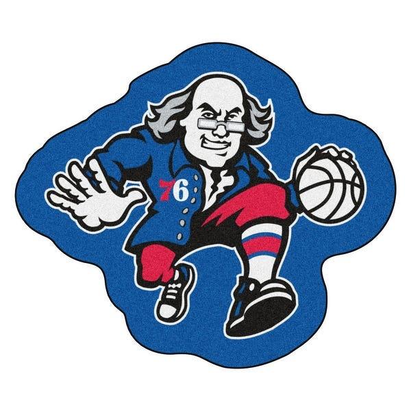 Shop NBA Philadelphia 76ers Mascot Novelty Logo Shaped Area.