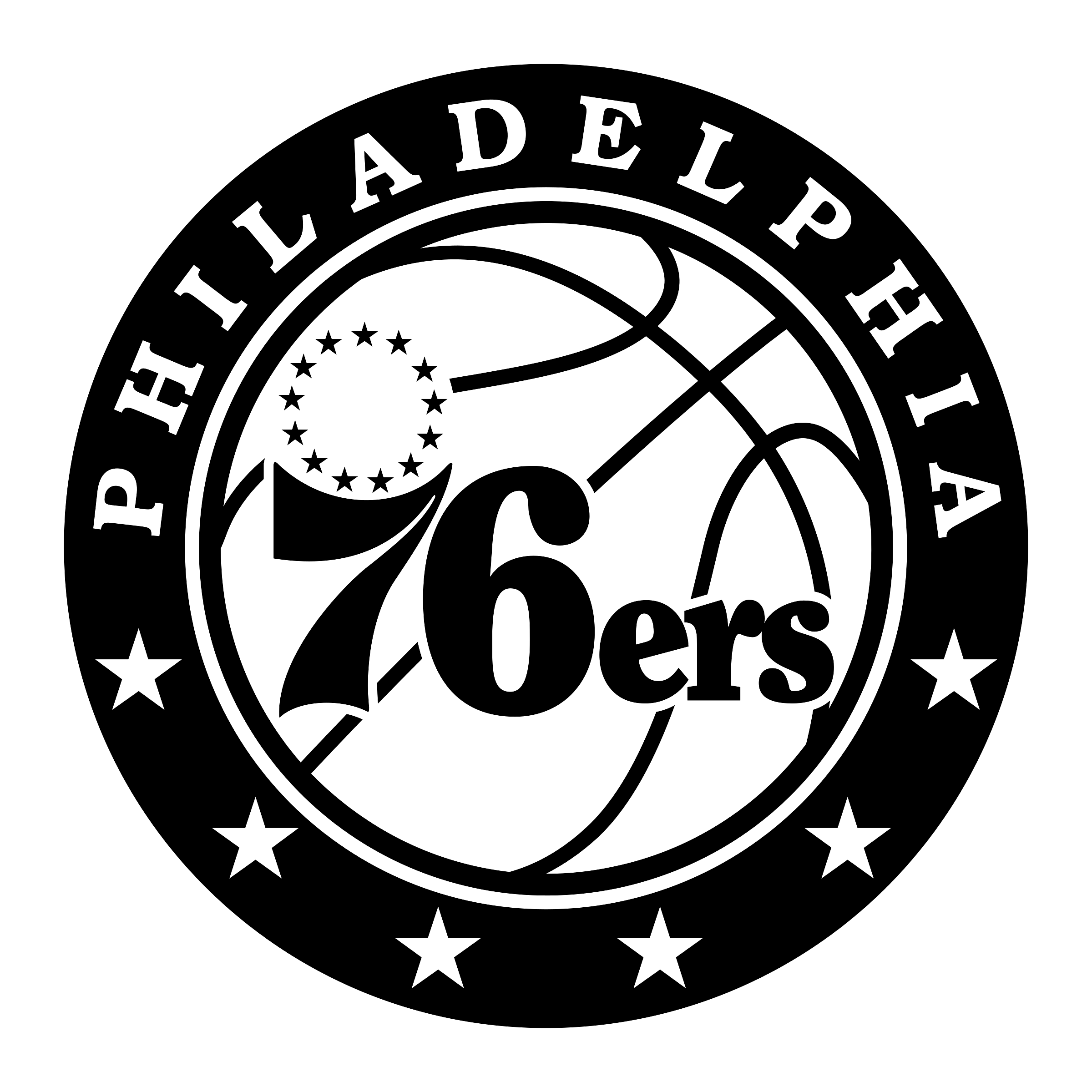 Philadelphia 76ers Logo PNG Transparent & SVG Vector.