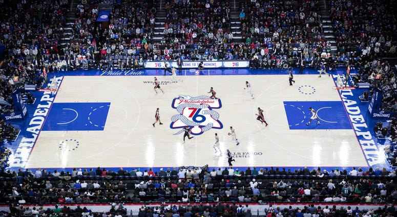 76ers to use \'snake\' logo at center court for playoffs.