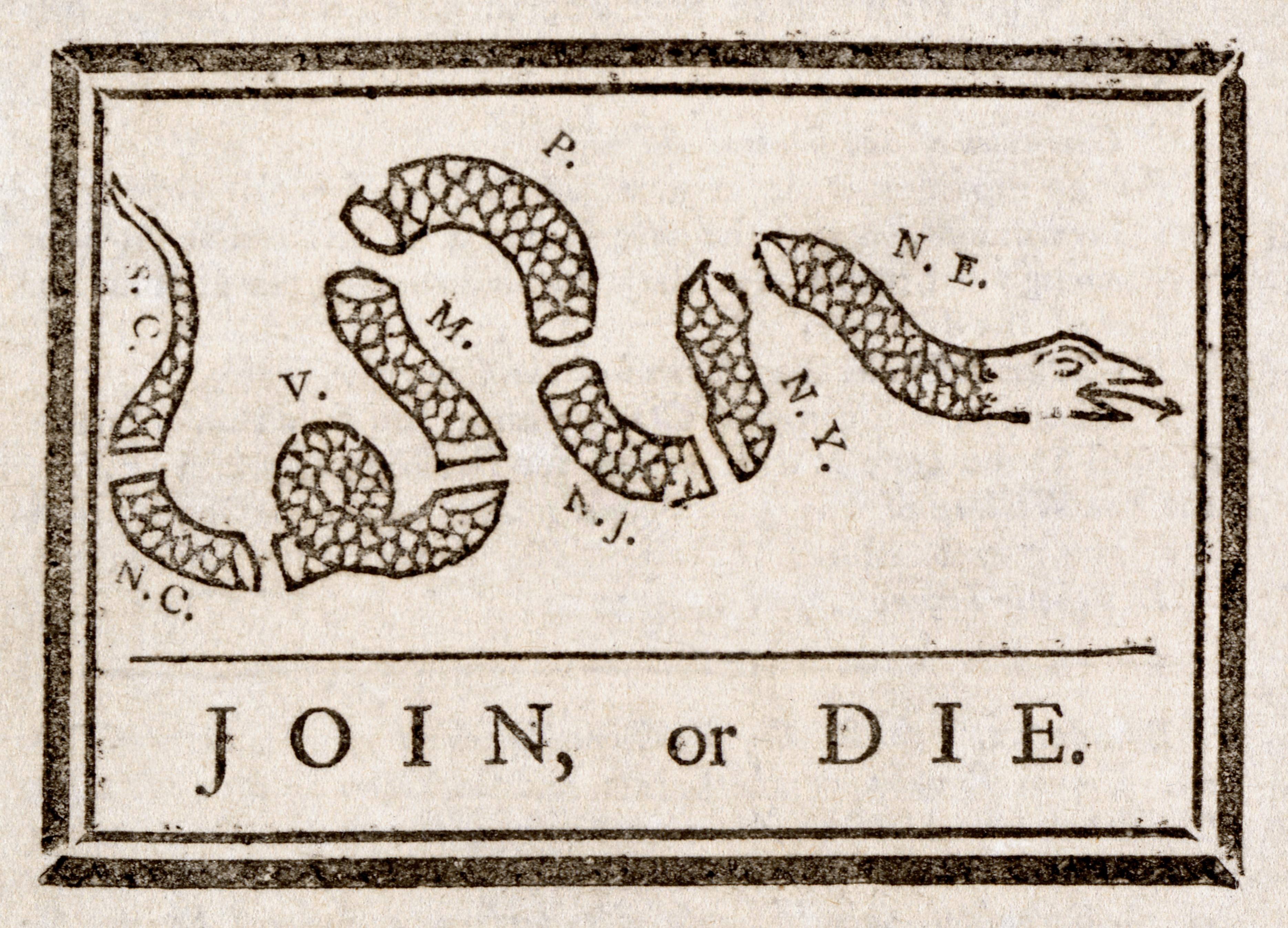 Join, or Die.