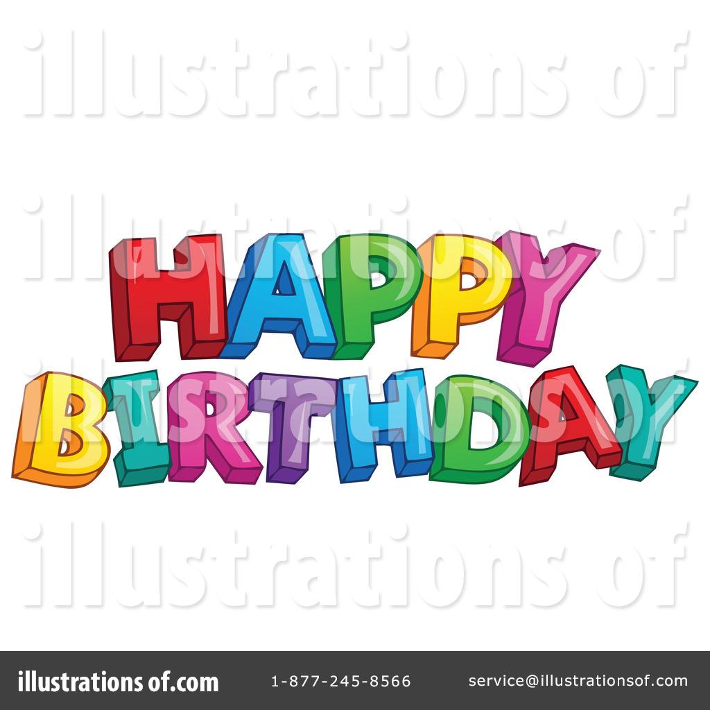 Happy Birthday Clipart #1207781.