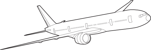 Boeing 777 Clipart.