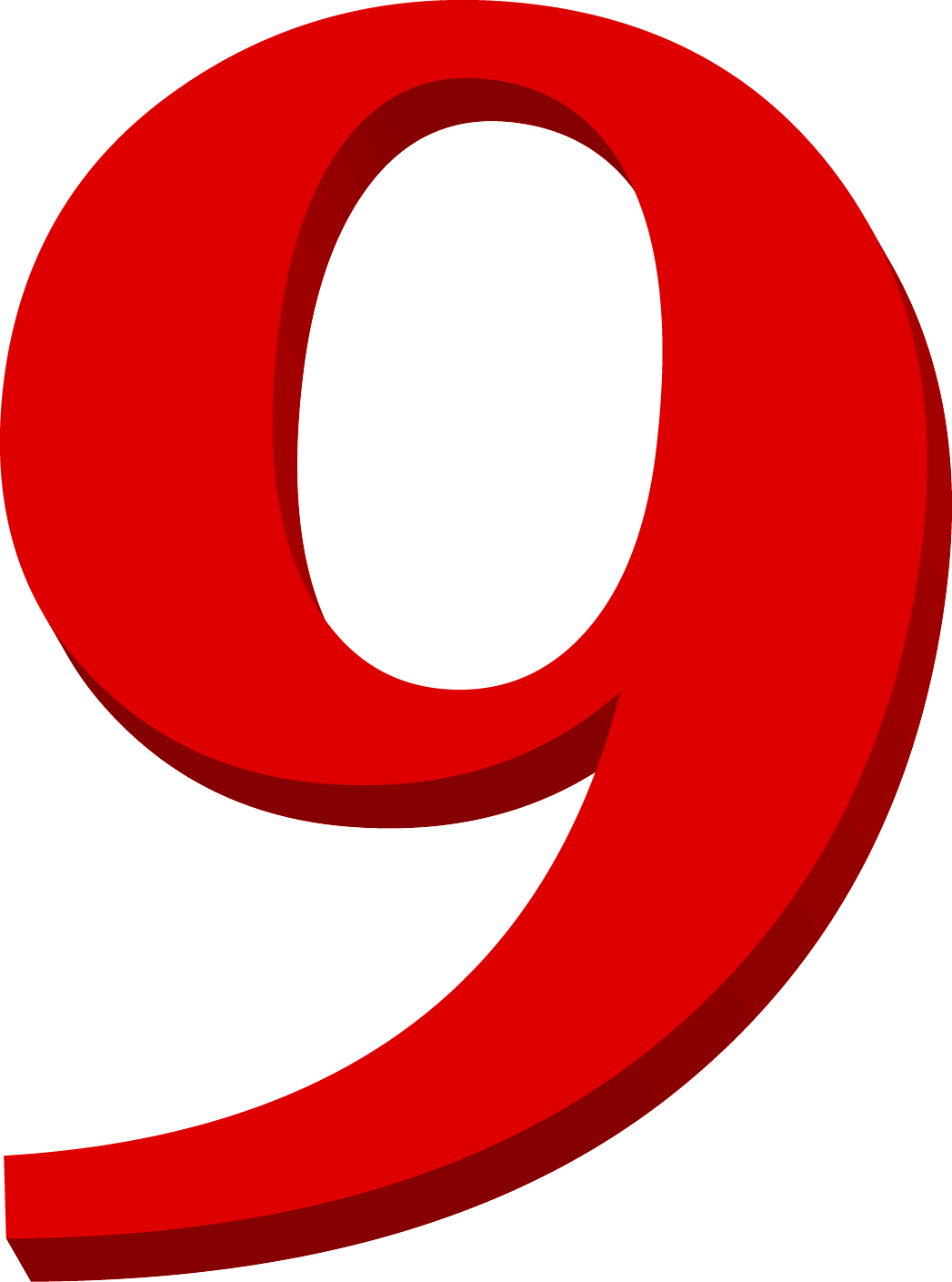 Red Number 9.