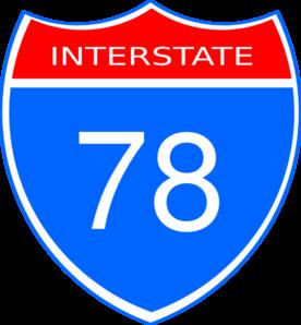Interstate 78 Clip Art at Clker.com.