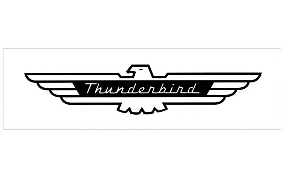Ford Thunderbird Name Decal.