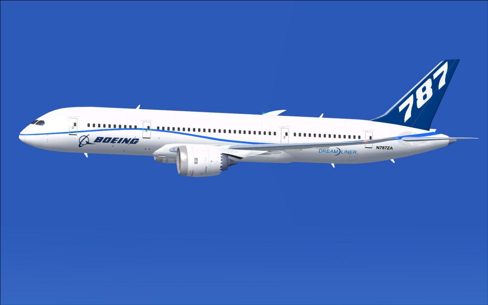 N787ZA Flight Test Airplane Boeing 787.