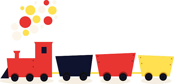 Toy Train Clip Art, Vector Images & Illustrations.