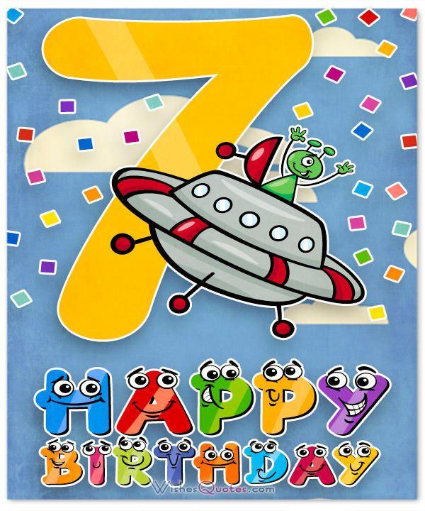 7th Birthday Wishes.