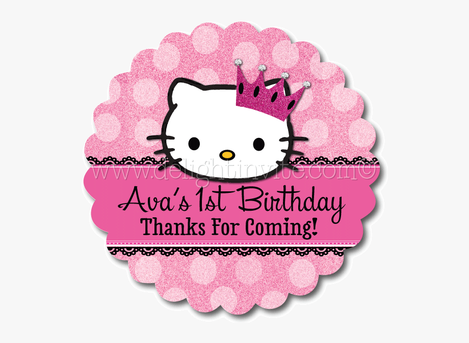 Hello Kitty Party Favor Tags.