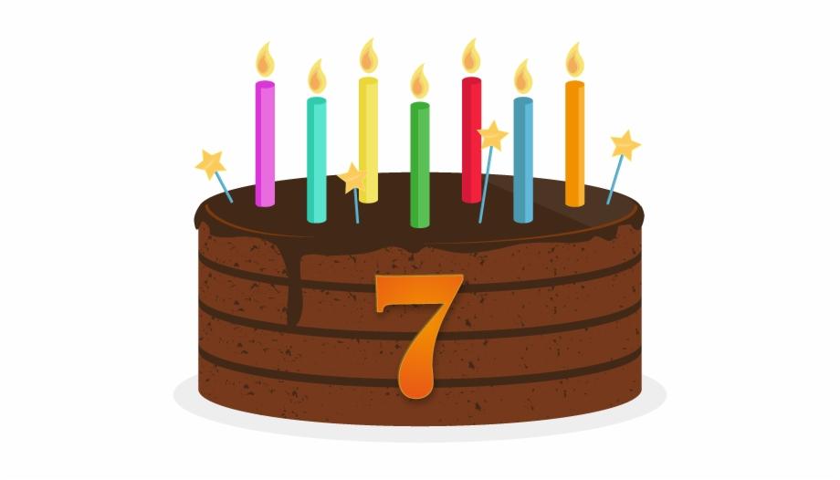 7th Birthday Cake Png.