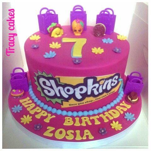 Shopkins birthday cake.