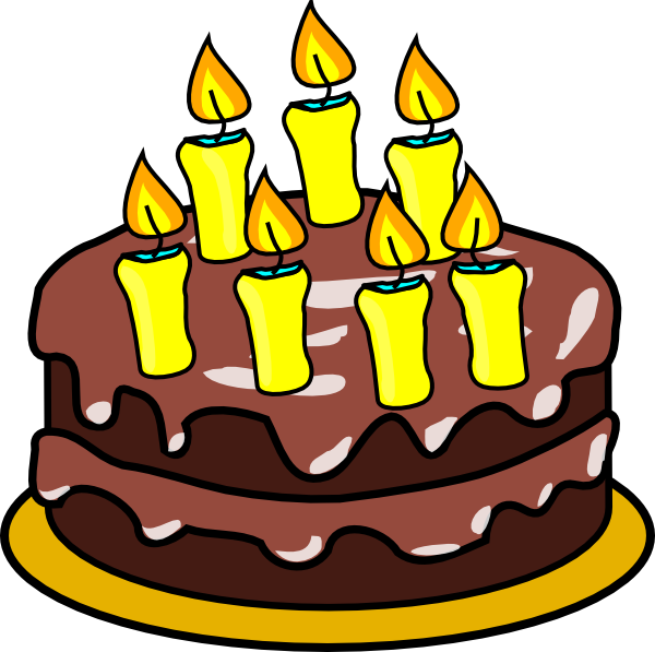 7th Birthday Cake Clip Art at Clker.com.