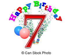 7th birthday Clip Art and Stock Illustrations. 172 7th.