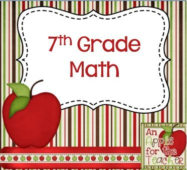 Resources and ideas for teaching 7th grade math.
