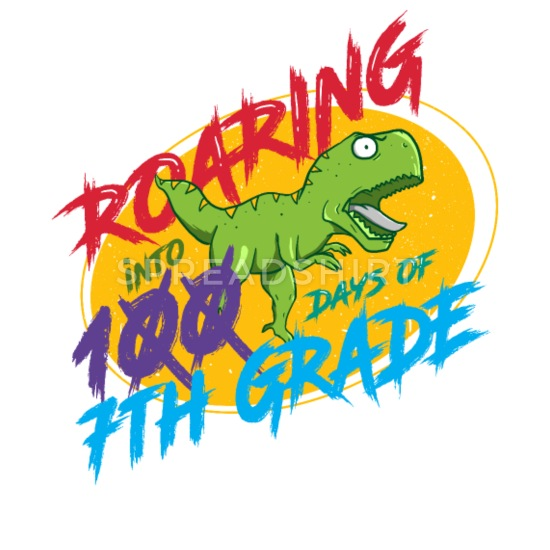 7th Grade Roaring into 100 days of school Coffee/Tea Mug.