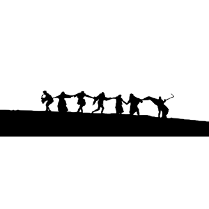 The Seven Seal: Final Scene Silhouette clipart, cliparts of.
