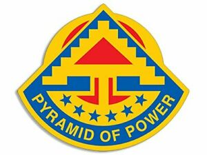 Details about 4x4 inch 7th Army Seal Shaped Sticker (Logo Seventh Military  USA Pyramid Power).