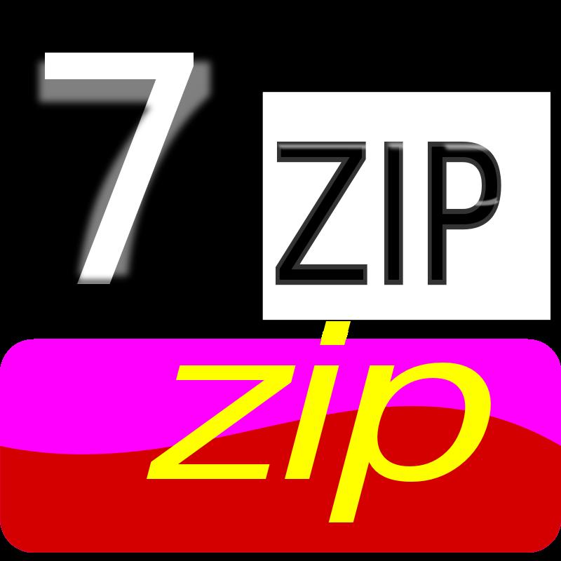Free Clipart: 7zip Classic zip.