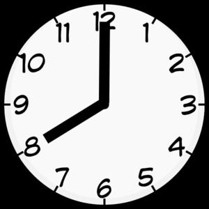 8 00 Clock Clipart.