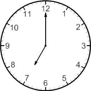 Free Clip Art of Clocks and Time (through all quarter hours.