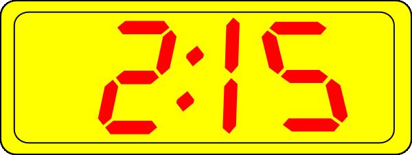 Digital Clock Clipart 6 00.