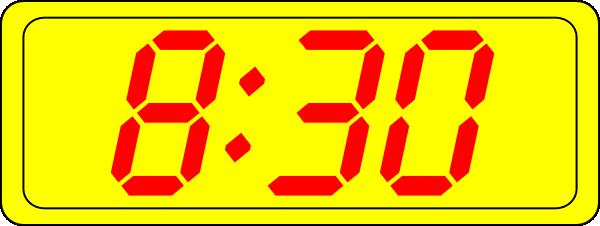 Digital Clock 8:30 Clip Art at Clker.com.