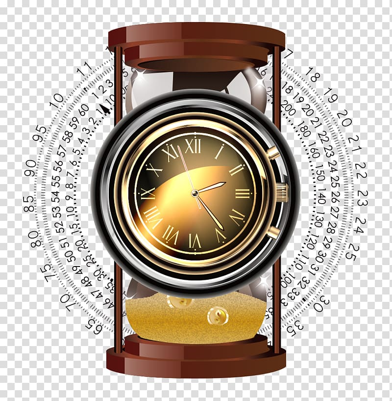 Clock Hourglass Watch Time, Clock hourglass transparent.