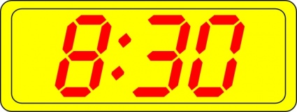 Digital Clock 8:30 clip art free vector.