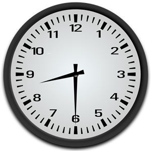Half Past 8 o\'clock clipart, cliparts of Half Past 8 o\'clock.
