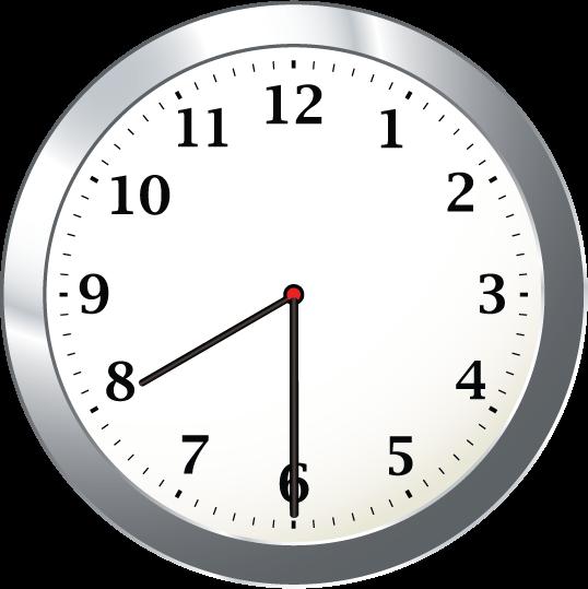 8 30 Clock Clipart.