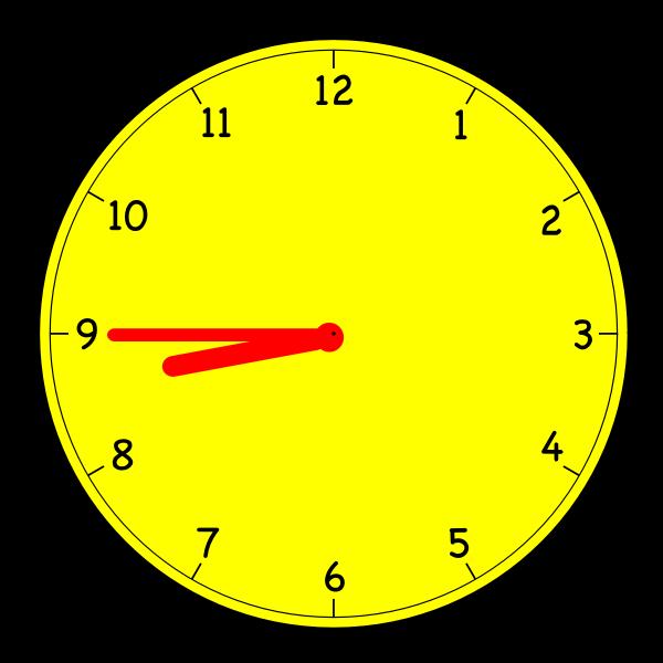 Clock 8 45.