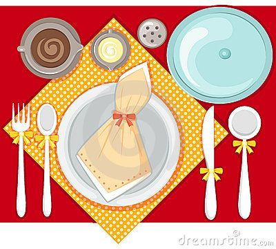 Table Setting Clipart Images.