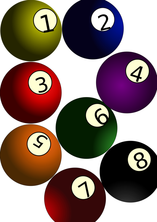 Ball,Indoor Games And Sports,Billiard Ball Vector Clipart.