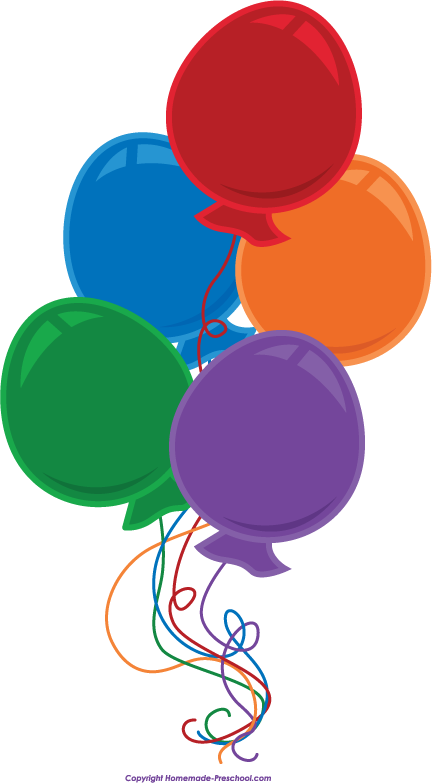 Free birthday balloons clipart 8.