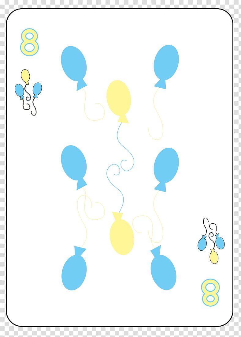 MLP FiM Playing Card Deck, yellow and blue of balloons.