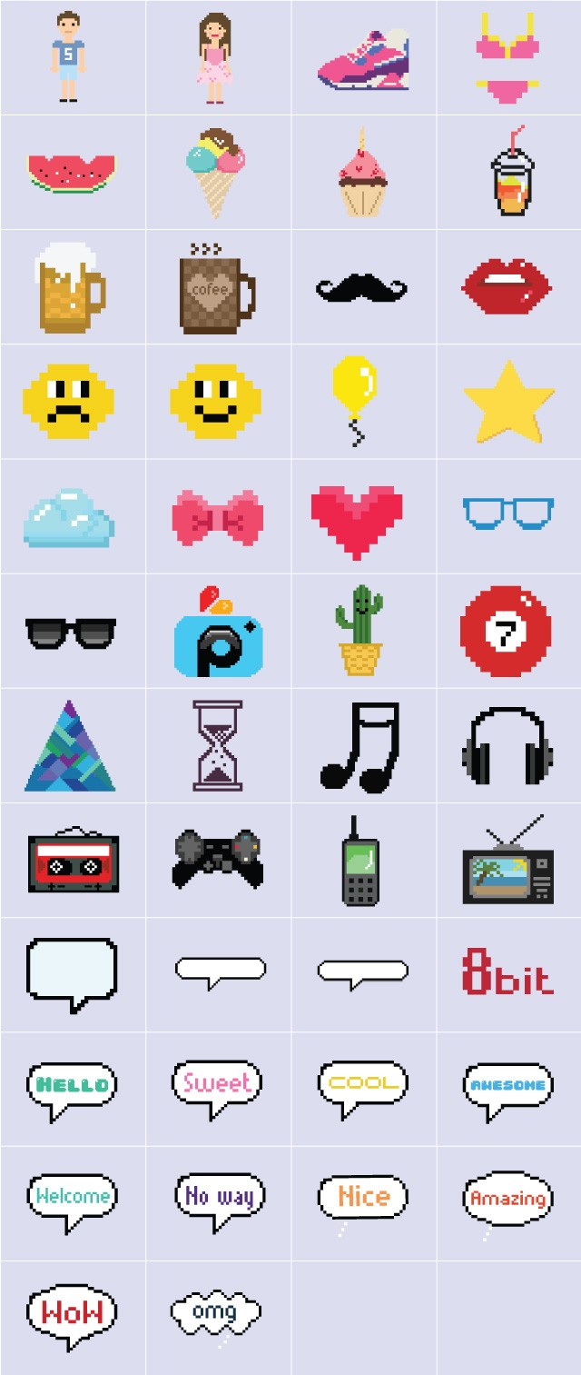 Enjoy Retro Resolution and Download our 8 bit Clipart Package.
