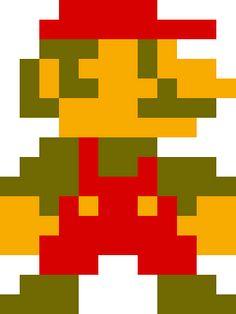 8 Bit Mario Clipart.