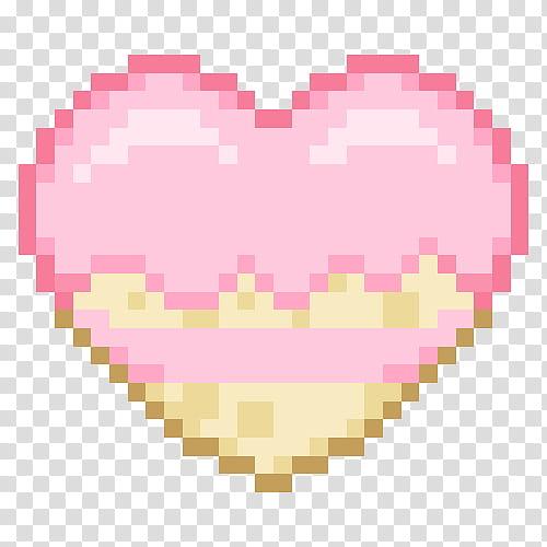 PASTEL PIXELS IV, pink and beige heart transparent.