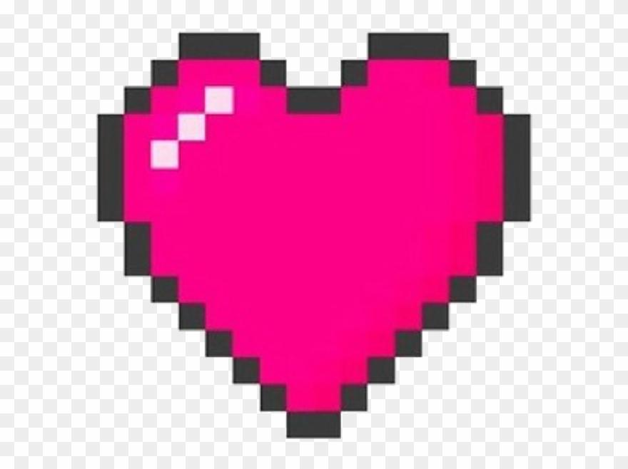 Pixels Heart Kawaii Cute Japan Kpop Aesthetic.