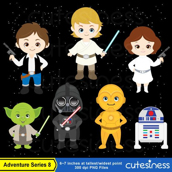 8 bit star wars clipart.