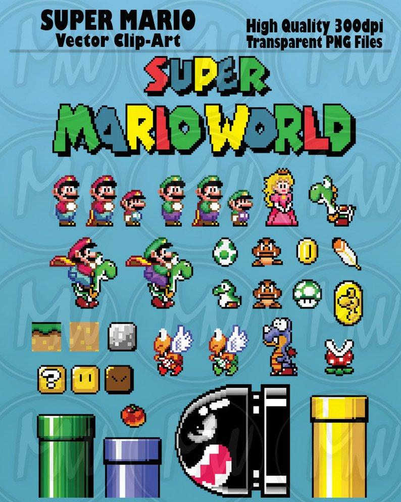 Super Mario World Clipart Mario Pixels 8.