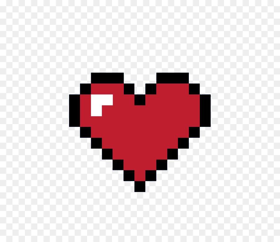 8 Bit Heart Clipart.