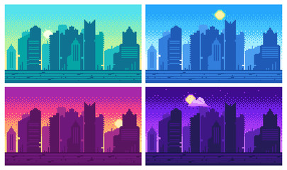 8 Bit City photos, royalty.